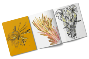 dessins au bic et aquarelles